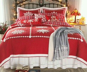 christmas, bedroom, and lights image