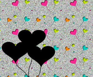 hearts, cute, and wallpaper image