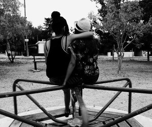 best friends, park, and love image