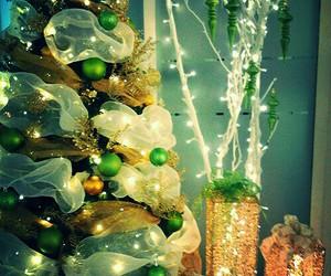 christmas lights, christmas tree, and christmas day image
