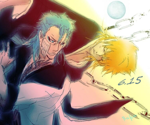 bleach, grimmjow, and grimmichi image