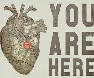 heart, love, and map image