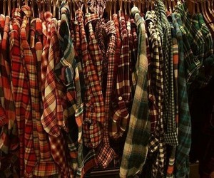shirt, clothes, and plaid image