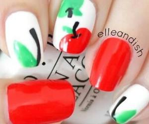 apple, nail art, and nail polish image