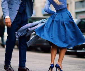 blue, couple, and style image