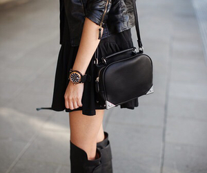 bag, black, and gold image