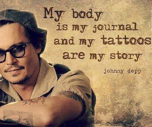 johnny depp, story, and Tattoos image
