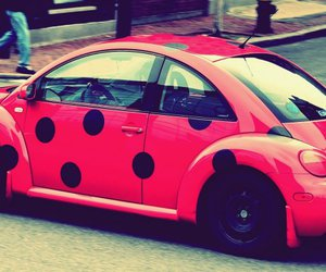awww, car, and pink image