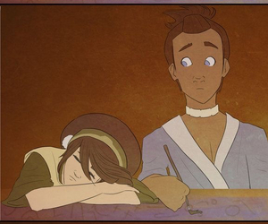 avatar, toph, and sokka image