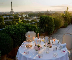 breakfast, eiffel tower, and paris image