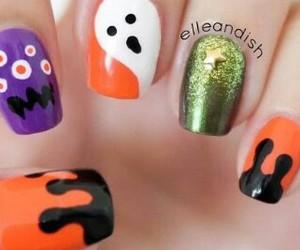 Halloween, nail art, and nail polish image