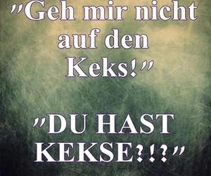 deutsch, kekse, and spruch image