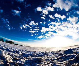 blue sky, pretty, and cold image