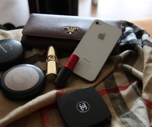 chanel, Prada, and iphone image