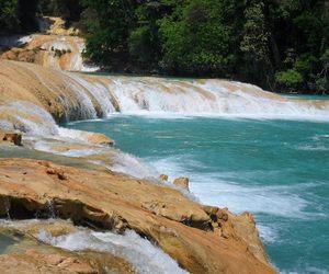 chiapas, cascadas de agua azul, and mexico.. image