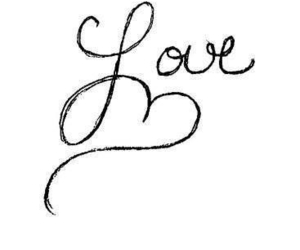 love, heart, and text image