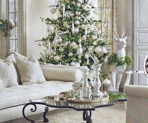 christmas, white, and tree image