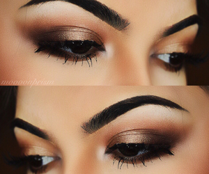 beauty, christmas, and smokey eye image