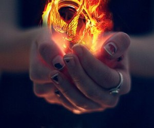 hunger games, fire, and the hunger games image