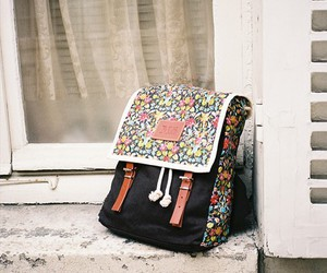 backpack, canvas, and flower image