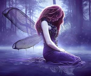 fantasy, purple, and fairy image