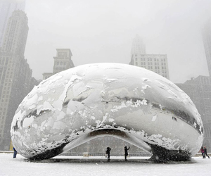chicago, winter, and snow image