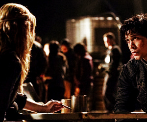 bellamy, the 100, and clarke image
