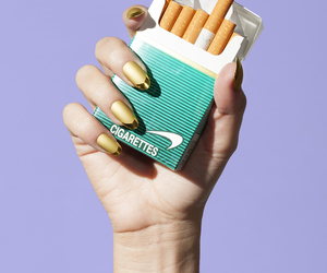 cigarette, nails, and purple image