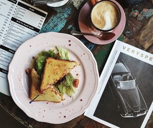 book, breakfast, and cocoa image
