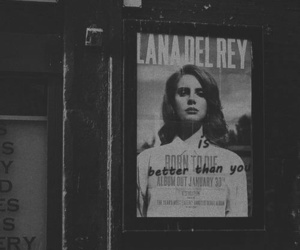 lana del rey, black and white, and born to die image