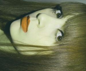 cat eye, girl, and make up image