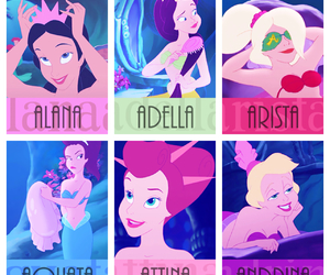 ariel, disney, and sisters image