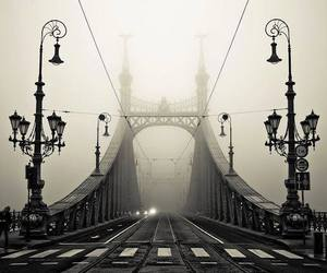 bridge, dark, and mistery image