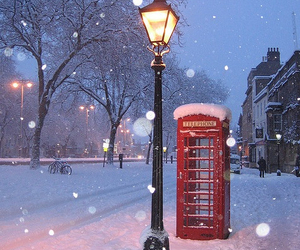 christmas, london, and red image