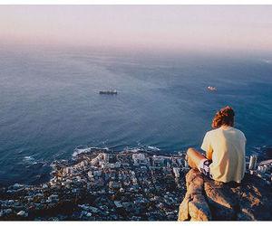 girl, city, and sea image