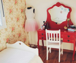 red, dress, and room image