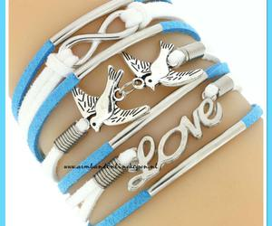 bracelet, infinity, and suede image