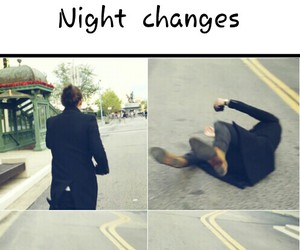 one direction, night changes, and funny image