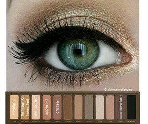 beautiful, EYE-SHADOW, and green eyes image