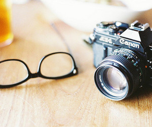 camera, glasses, and photography image