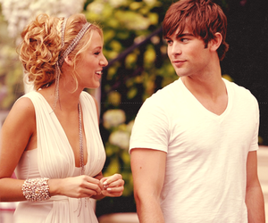 gossip girl, serena, and nate image