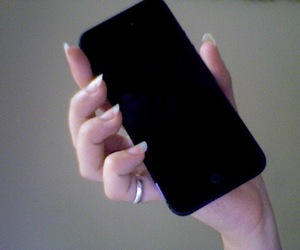 iphone, pale, and black image