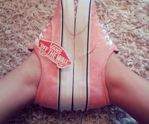 coral, vans, and girly image