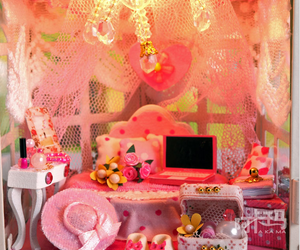 dollhouse, fantasy, and lamp image