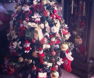 new year, christmas, and tree image