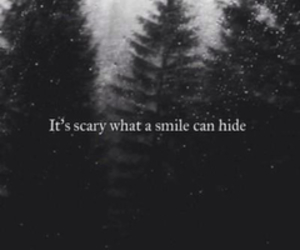smile, scary, and quote image