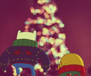 christmas, finn, and JAKe image