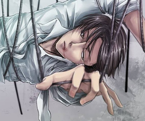 attack on titan, rivaille, and levi ackreman image