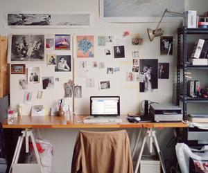 space, artist studio, and desk image