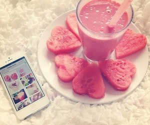 ipod, rosa, and watermelon image